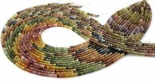 Nice Natural Multi Shaded Sapphire Loose Gemstone Faceted Rondelle Beads