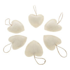 DIY Craft Linen Love Heart Knitted Christmas Xmas Tree Cute Hanging Decorations