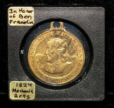 "Benjamin Franklin  Medal  ""In Honor Of Benjamin Franklin"" - Mechanic Arts - 1824"