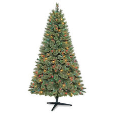 Cashmere Christmas Tree 6' Pre-Lit Green Pine 300 Clear or Color Lights 438 Tips