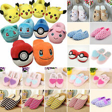 Pokemon Pikachu Soft Fleece Slipper Shoes Anti-Slip Warm Plush Slippers Indoor