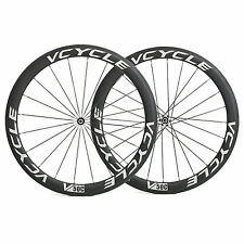 VCYCLE V50C Carbon Straight Pull Wheels 700C 50mm Clincher Road Bike Wheelset