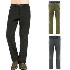 Mens Winter Warm Outdoor Trip Pants Climbing Hiking Soft shell Trousers Overalls