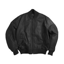 Alpha Industries MA-1 Leather Flight Jacket Black, Brown  MLM21110P1
