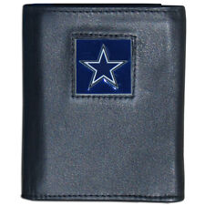 NFL Official Leather/Nylon Tri-fold Wallet Choose Your Team