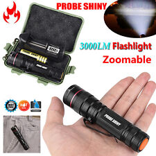 Zoomable 3000lm CREE XM-L Q5 LED 18650 Flashlight Torches Super Bright Light Set