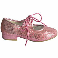 TAPPER AND POINTERS GIRLS PINK GLITTER TAP SHOES