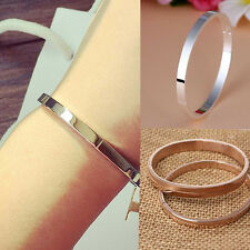Women's Novelty Gold-plated Stainless Steel Cuff Bangle Jewelry Crystal Bracelet