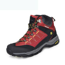 Mens Big Size Waterproof Trail Hiking Boots Shock Absorb Walking Outdoor Shoes