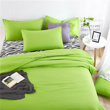Green Twin Queen King Bed Set Pillowcase Quilt Duvet Cover Zebra Ous