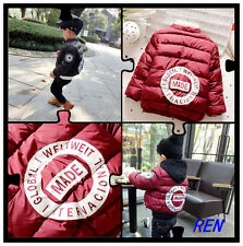 Kids Boys Clothing winter coat thicker coat wild casual jacket Outerwear  Boys'