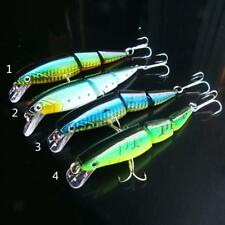 Life-like 3 Sections Jointed Minnow Fishing Lure Baits Crankbait Sinking Tackle