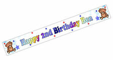 PERSONALISED BANNER NAME AGE PHOTO BIRTHDAY PARTY teddy brown 3rd 4th 5th 6th D2