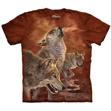 RED GLOW WOLVES Wolf T-Shirt Howlin Wolfpack Mens Sizes S-5XL NEW!