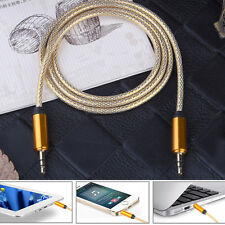 3.5mm Aux Auxiliary Cord Male to Male Stereo Audio Cable For PC iPod MP3 Car KI