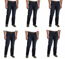 Mens Jeans Urban Star Dark Wash Denim Jeans Straight Leg Regular Pants Trouser