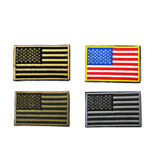 "American Flag Embroidered Patch Iron-On USA United States America 3.2x2"" US Ship"