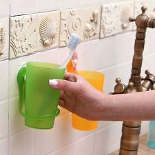 Toothbrush Toothpaste Holder Bathroom Wall Mounted Toothbrush Cup With Sucker
