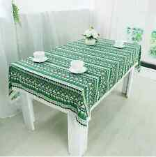Quality Ethnic Style Green Bar Coffee Table Cotton Linen Cloth Covering Ous