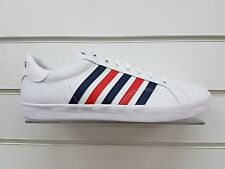 MENS K-SWISS 'BELMONT SO T' TRAINERS IN WHITE (03325-130-M) *UK SIZE 8-11*