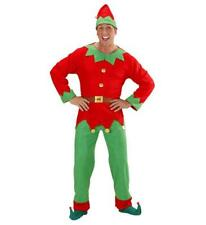 Mens Santas Helper Elf Costume Fancy Dress Christmas Elves Xmas Set Novelty Hat