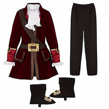 Disney NWT Captain Hook Costume size XS Extra Small 4 4T Pirate Neverland