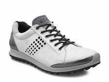 ECCO 2017 Mens Biom Hybrid 2 White Black Yak Waterproof Leather Golf Shoes