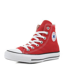 Converse Chuck Taylor All Star Hi Top Red Baseball Boots Trainers Size