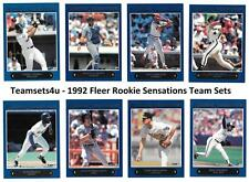 1992 Fleer Rookie Sensations Baseball Team Sets ** Pick Your Team Set **