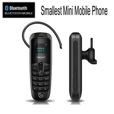 World Smallest Mobile Phone Tiny Micro Mini in- ear Fob Beat The Boss Unlock GSM