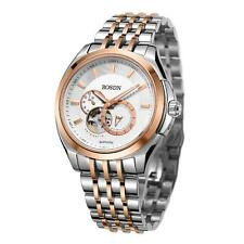 Mens Automatic Mechanical Analog Skeleton Dial Sapphire Watch Leather/Steel A3J0