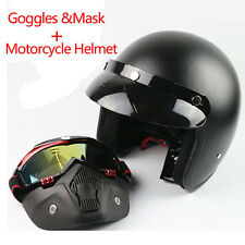 Mask Detachable Goggles Mouth Filter Motorcycle Half Helmet or Vintage Helmets