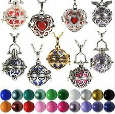 HOT Harmony Ball Cage Silver Lockets Pendant Angel Caller Sounds Chimes Necklace