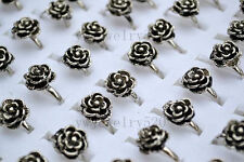 Wholesale Mixed Lots Jewelry Resale Rose Silver Plated Women's Rings FREE
