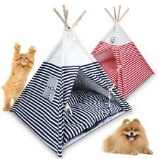 Foldable Pet Teepee Pet Tent with Pet Bed Mat Pet Kennel Kit Indoor/Outdoor G9U0