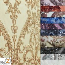 VICTORIAN SEQUINS EVENING DRESS FABRIC BY THE YARD BRIDAL FASHION ACCESSORIES