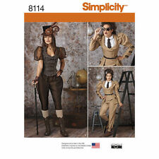Simplicity 8114 Misses' Historical Steampunk Costumes New/Uncut