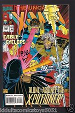 Uncanny X-Men #310 Cable Signed by John Romita Jr. W/COA with Uncut Card Marvel