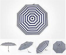 Girls Automatic Umbrella Navy Blue Streak Three Fold Folding Umbrella