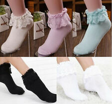 New Hot Princess Girl Cute Lace Sweet Women Frilly  Ruffle Ankle Socks Fashion