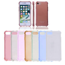 TPU Frame Card Slots Protective Phone Case Crystal Back Cover for iPhone 7