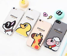 [KOREA-PANCOAT] Invisible Jelly Case Cute Character Cover iPhone 6/6s/7/7 Plus