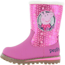 Peppa Pig Rosalia Girls Boots - Pink/Cerise (Sizes 5,6,7,8,9,10)