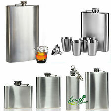 Stainless Steel Hip Flask Liquor Whiskey Alcohol Pocket Bottle Cup Funnel Drink