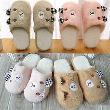 Unisex Indoor House Bear Slippers Warm Sandal Slipper Shoes Antiskid Plush Shoes