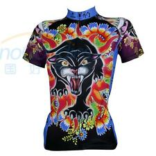 New Women's Cycling Clothing Road Bike Bicycle Short Sleeve XS-XXXL Jersey Black