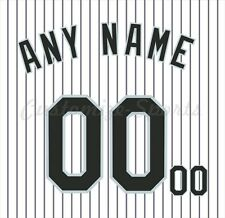 MLB Colorado Rockies White Home Jersey Customized Number Kits un-sewn