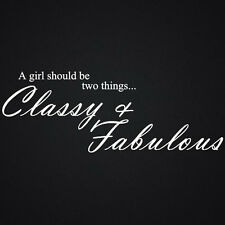 WALL QUOTES CLASSY & FABULOUS WALL DECAL STICKERS  KITCHEN BEDROOM ART QUOTE