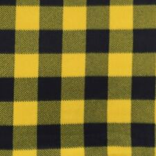Polar Fleece Fabric Buffalo Plaid Blue and Yellow Check 60 Inch