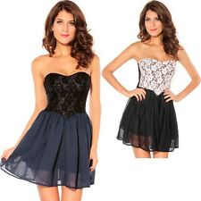 Sexy Black Sweetheart Lace Overlay Dress Cute Club Night Club Summer Autumn